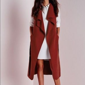 Belted Waterfall Duster